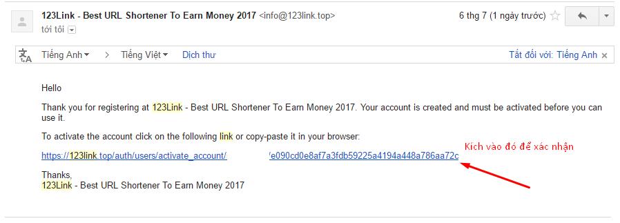 Hướng dẫn đăng ký kiếm tiền bằng cách rút gọn link với 123link.co