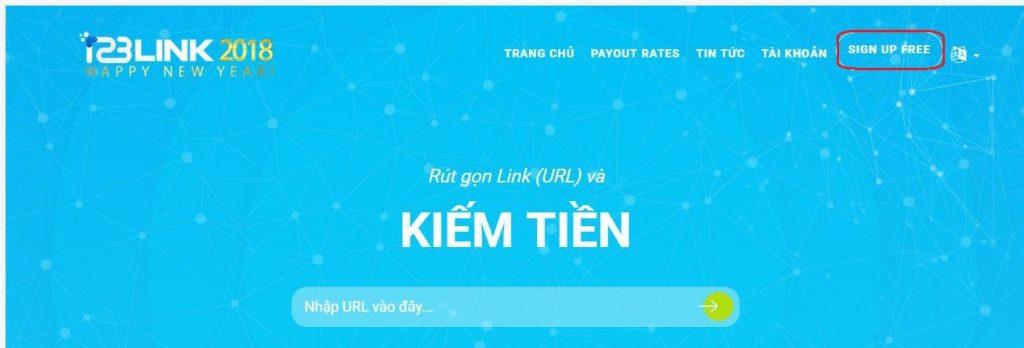 Đăng ký tài khoản 123link.top