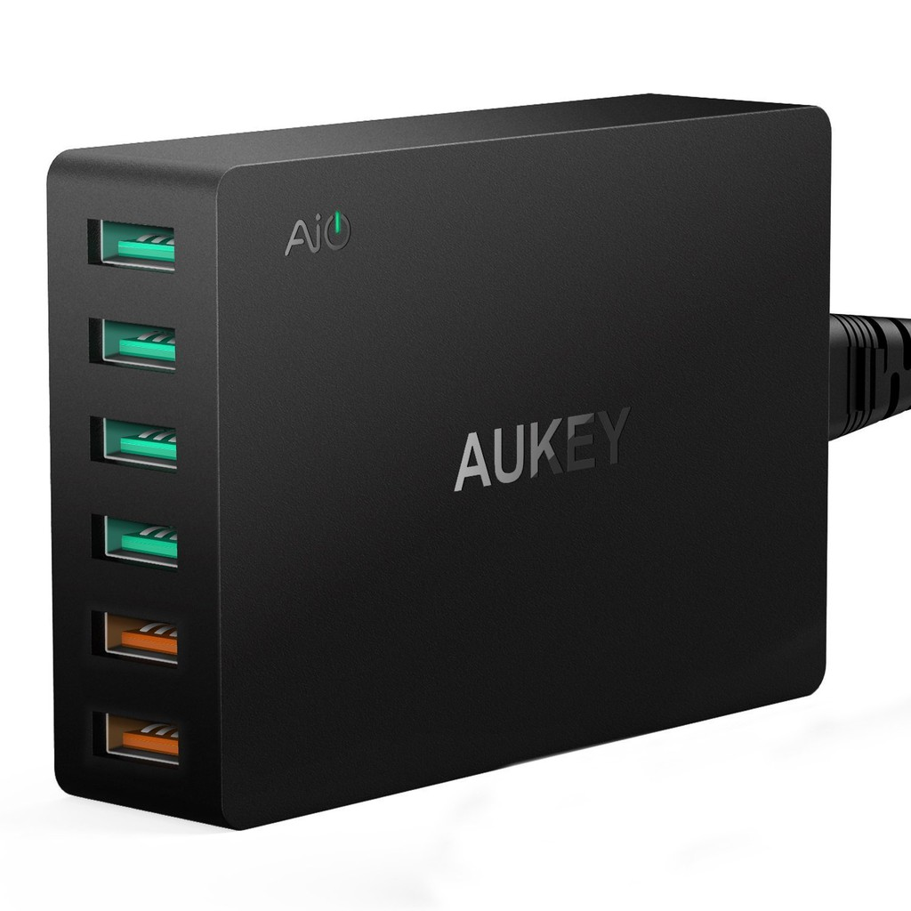 Củ Sạc Nhanh Aukey PA-T11 6 Cổng USB QC 3.0