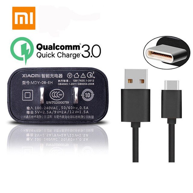 Củ Sạc Nhanh Xiaomi 5V-2.5A Quick Charge 3.0 - Model MDY-08-EH