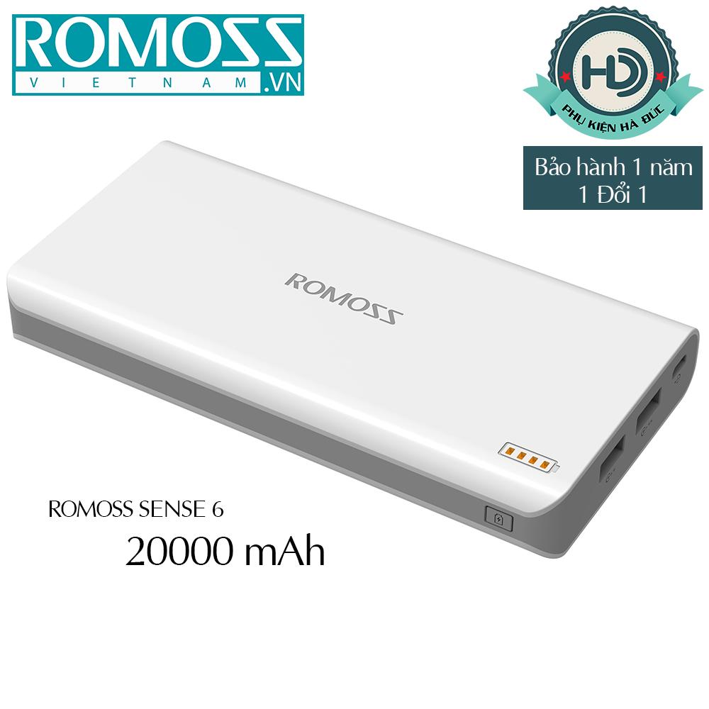 Pin sạc dự phòng 20.000mah Romoss SENSE 6